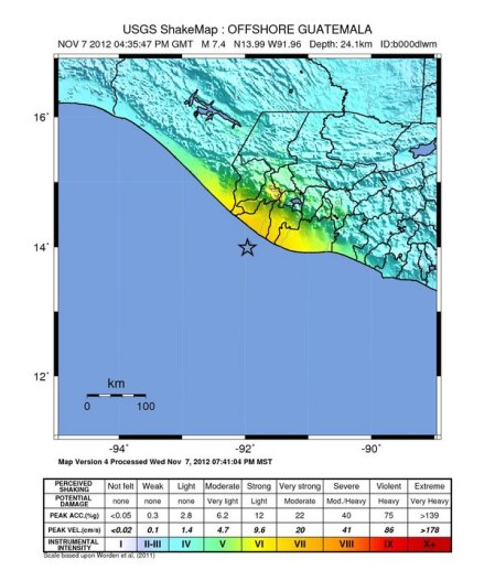 USGS Guat EQ Intensity 11 07 2012